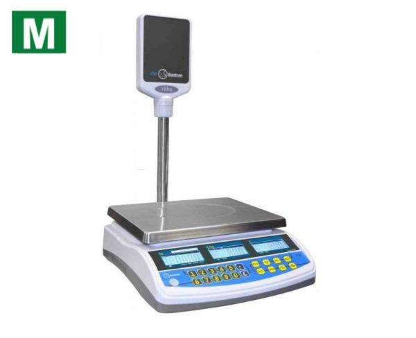 photo d'une balance poids prix tw à colonne avec logo métrologique