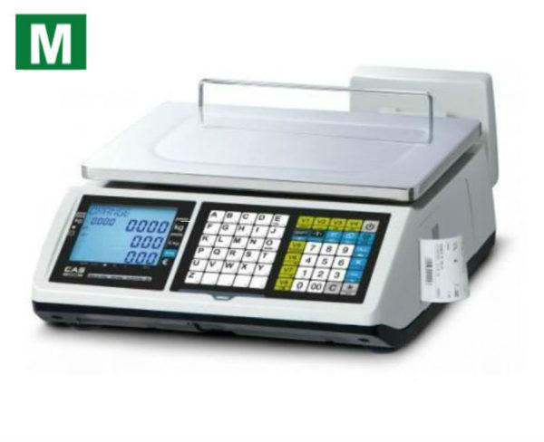 photo d'une balance poids prix à ticket cas ct100 avec logo métrologique