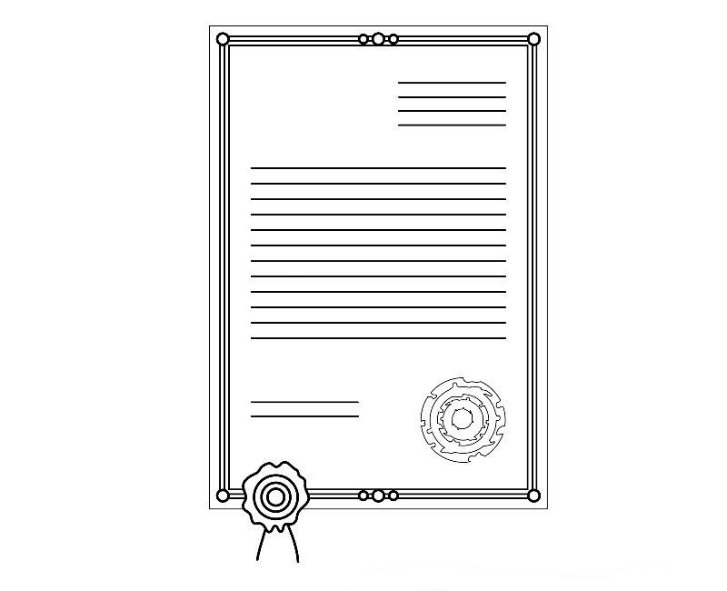 photo d'un certificat ou constat